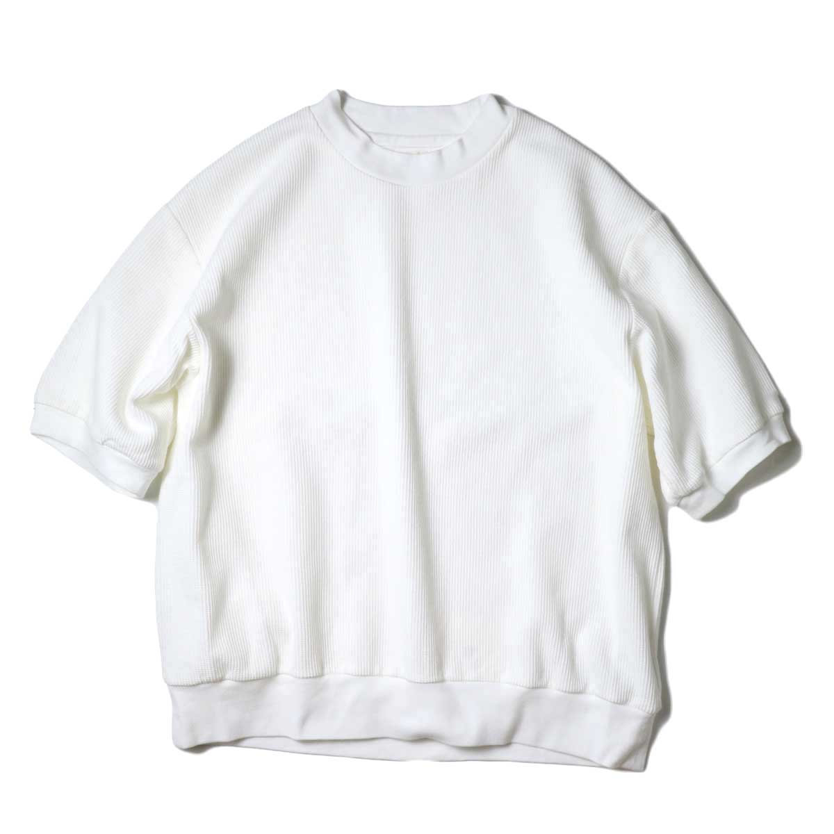 blurhms / Rough&Smooth Thermal Pullover S/S (Off) 正面