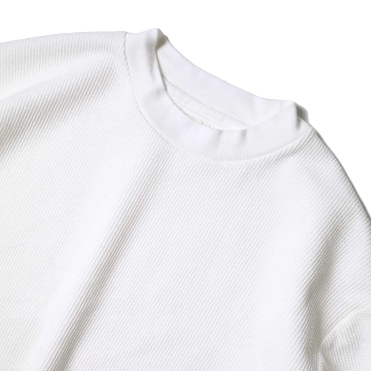blurhms / Rough&Smooth Thermal Pullover S/S (Off) 襟