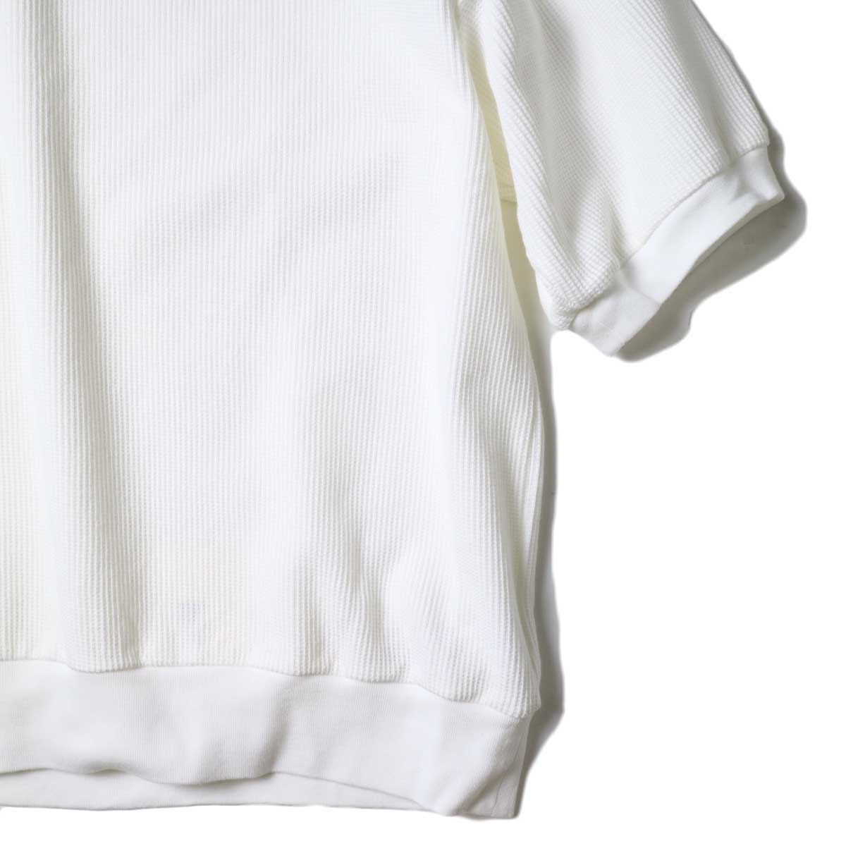 blurhms / Rough&Smooth Thermal Pullover S/S (Off) 袖・裾