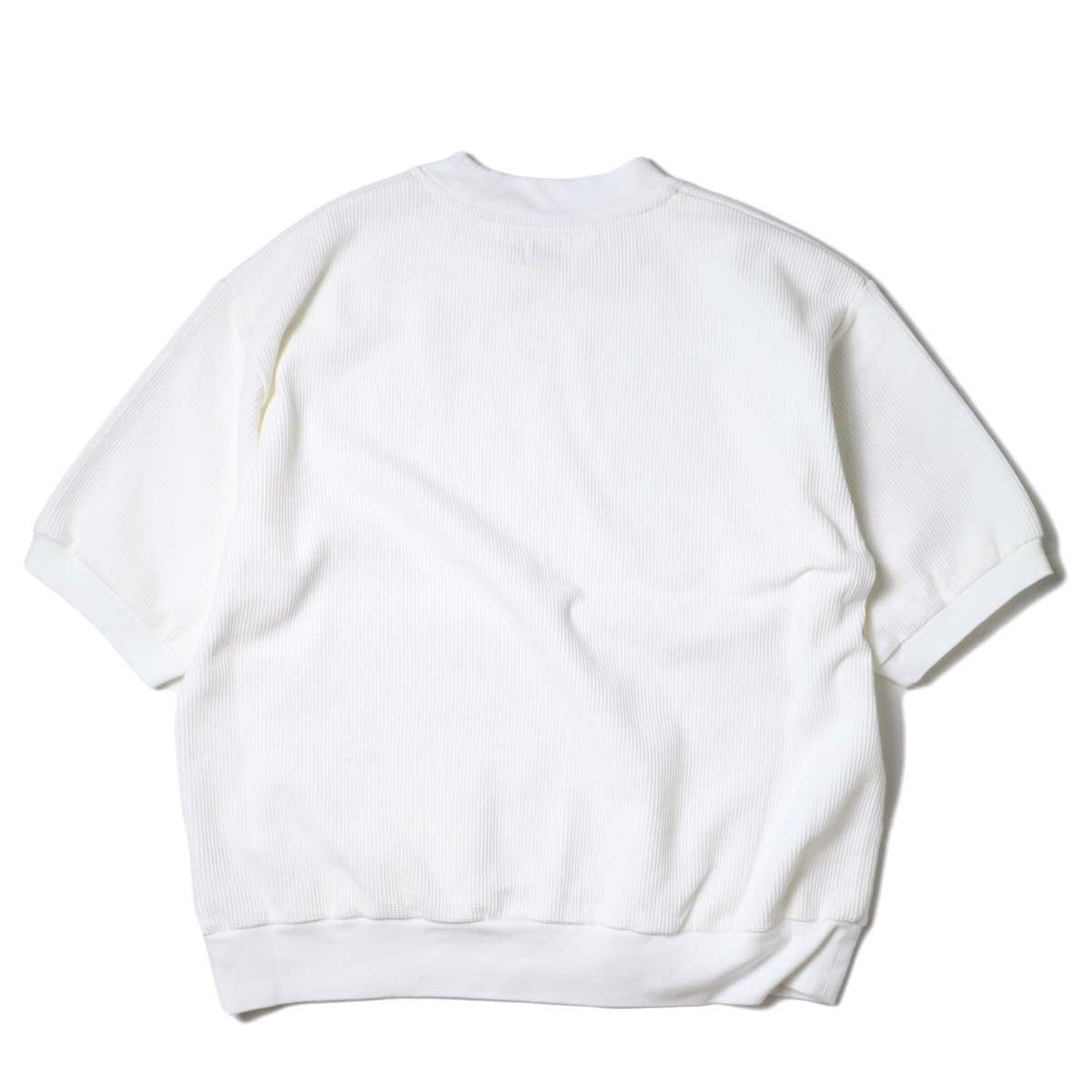blurhms / Rough&Smooth Thermal Pullover S/S (Off) 背面