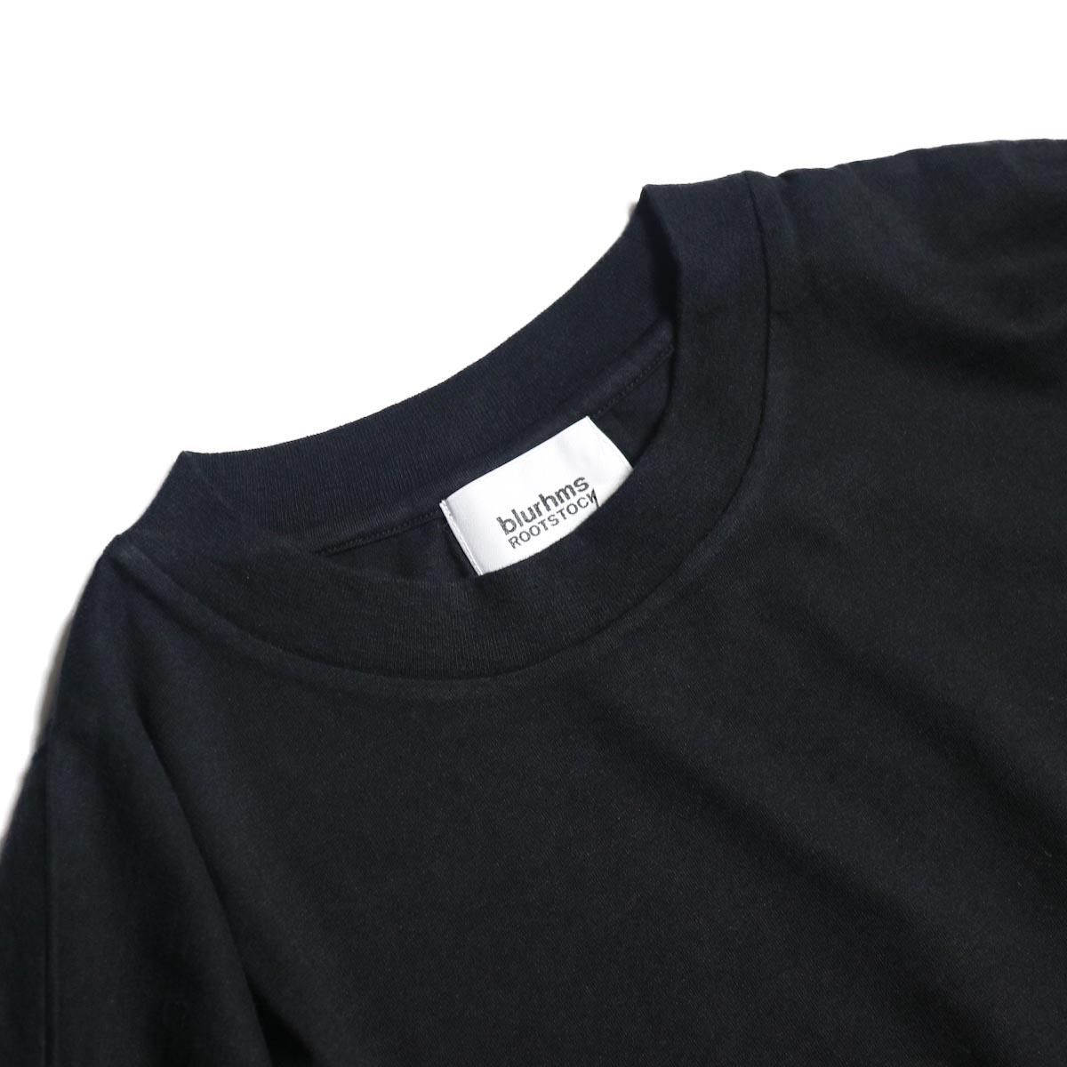 blurhms / Silk Cotton Jersey L/S P/O Loose Fit (Black)クルーネック