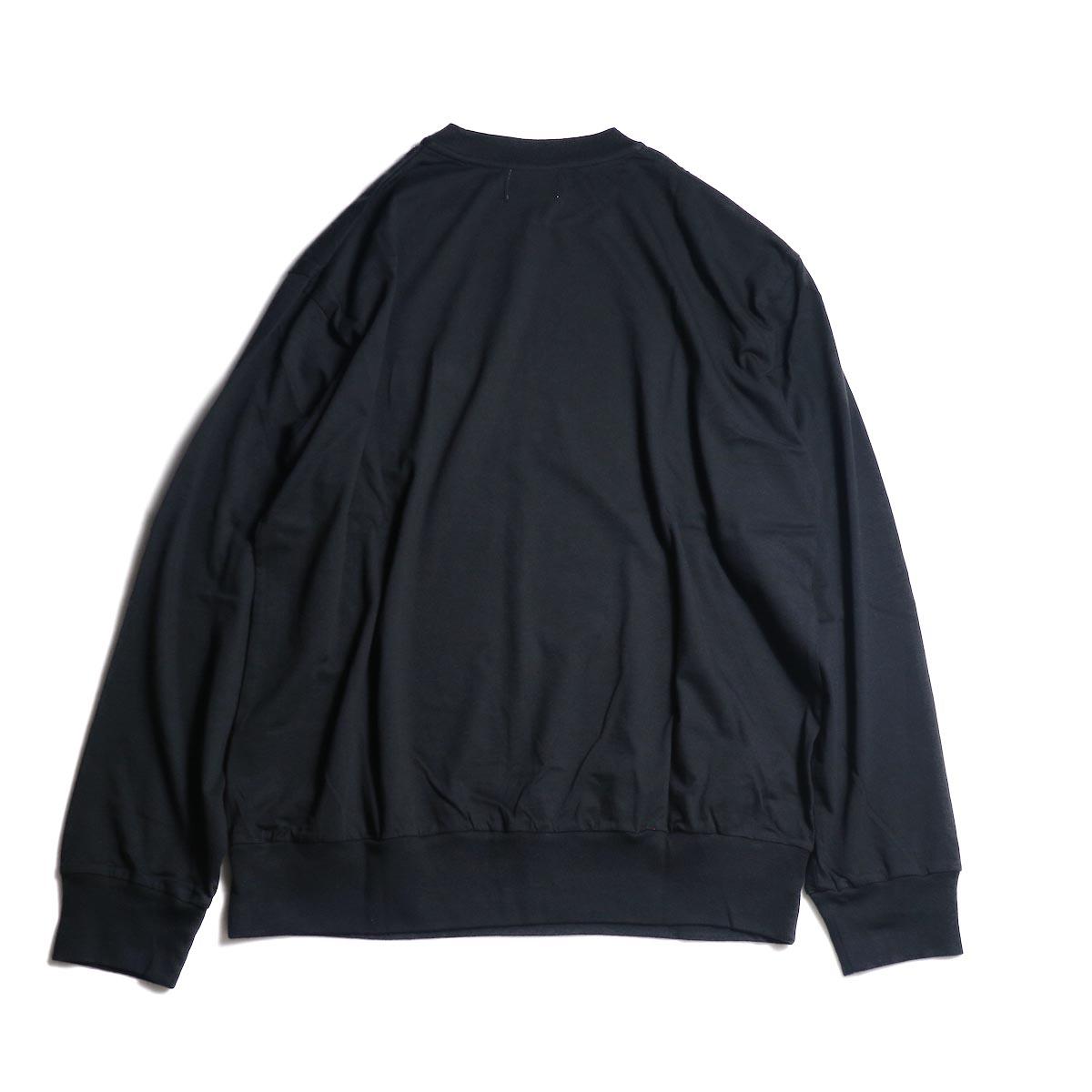 blurhms / Silk Cotton Jersey L/S P/O Loose Fit (Black)背面