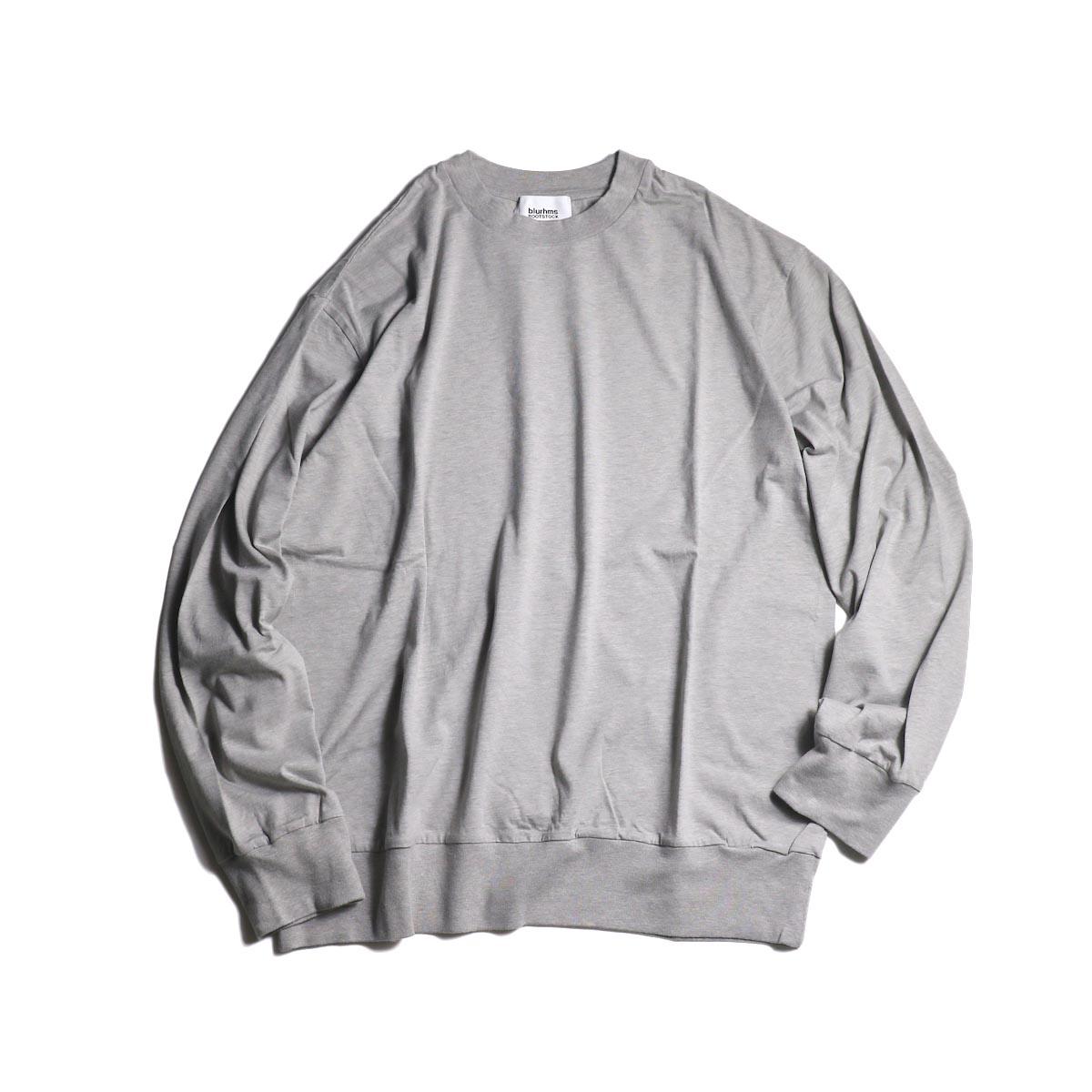 blurhms / Silk Cotton Jersey L/S P/O Loose Fit (Gray)
