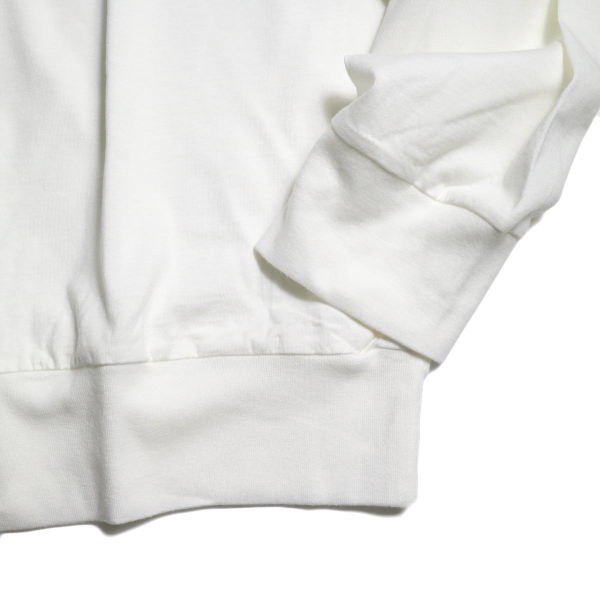 blurhms / Silk Cotton Jersey L/S P/O Loose Fit (White)袖、裾