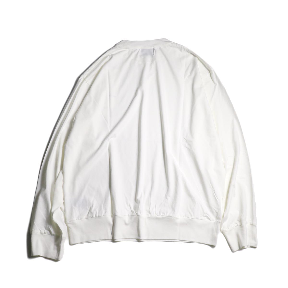 blurhms / Silk Cotton Jersey L/S P/O Loose Fit (White)背面