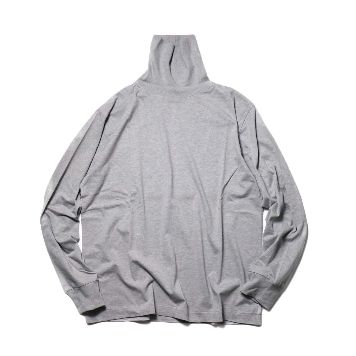 blurhms / Silk Cotton Jersey Turtle Neck L/S (HeatherGrey)