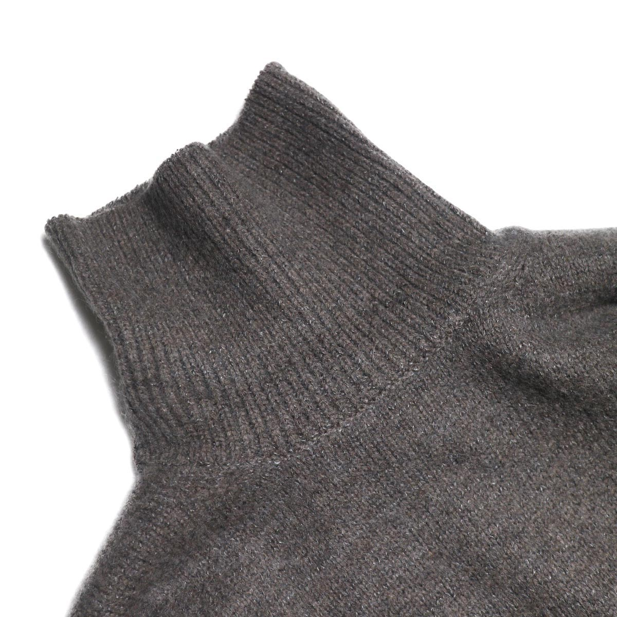 blurhms / Silk Mohair Wool Knit Turtle-Neck P/O (H.Brown) タートルネック