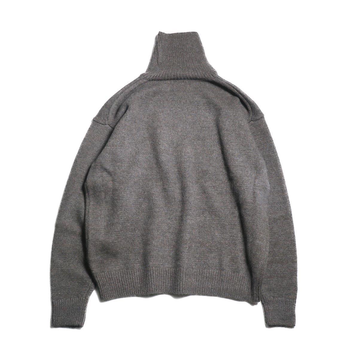 blurhms / Silk Mohair Wool Knit Turtle-Neck P/O (H.Brown)背面