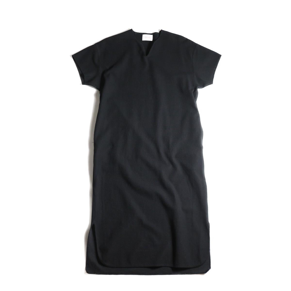 blurhms / Rough&Smooth Thermal Over-neck Dress (Black)
