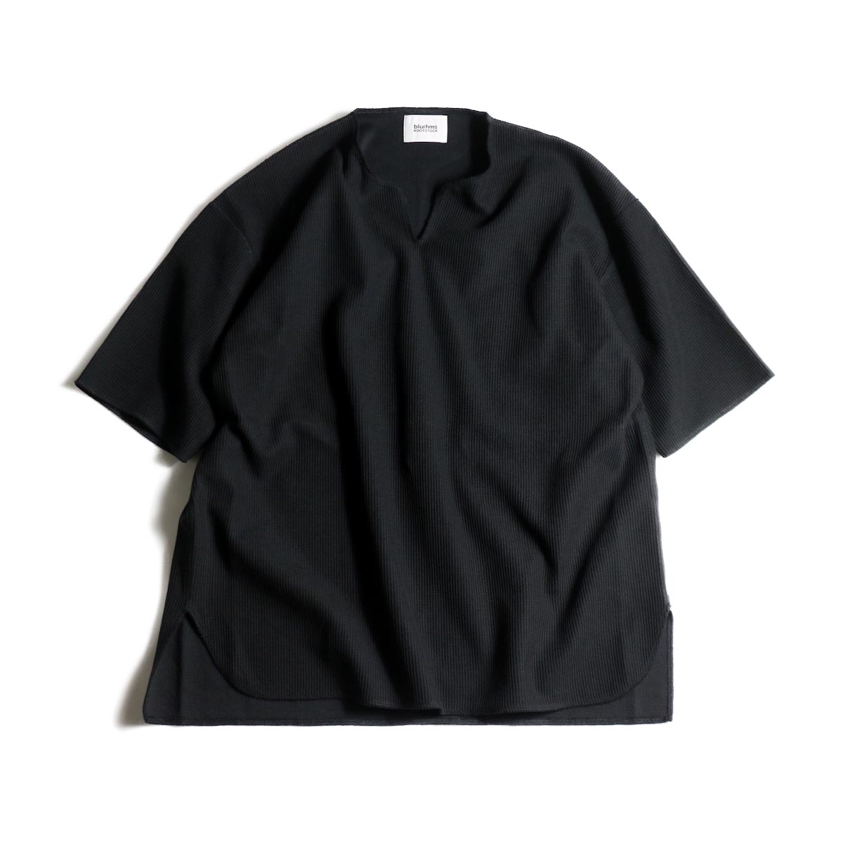 blurhms / Rough&Smooth Thermal Over-neck S/S (Black)