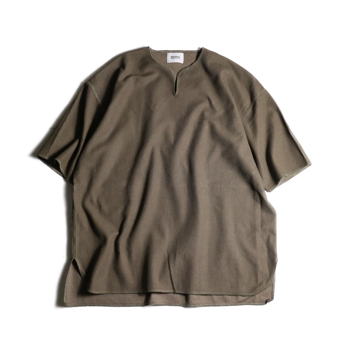 blurhms / Rough&Smooth Thermal Over-neck S/S (Ash Khaki)