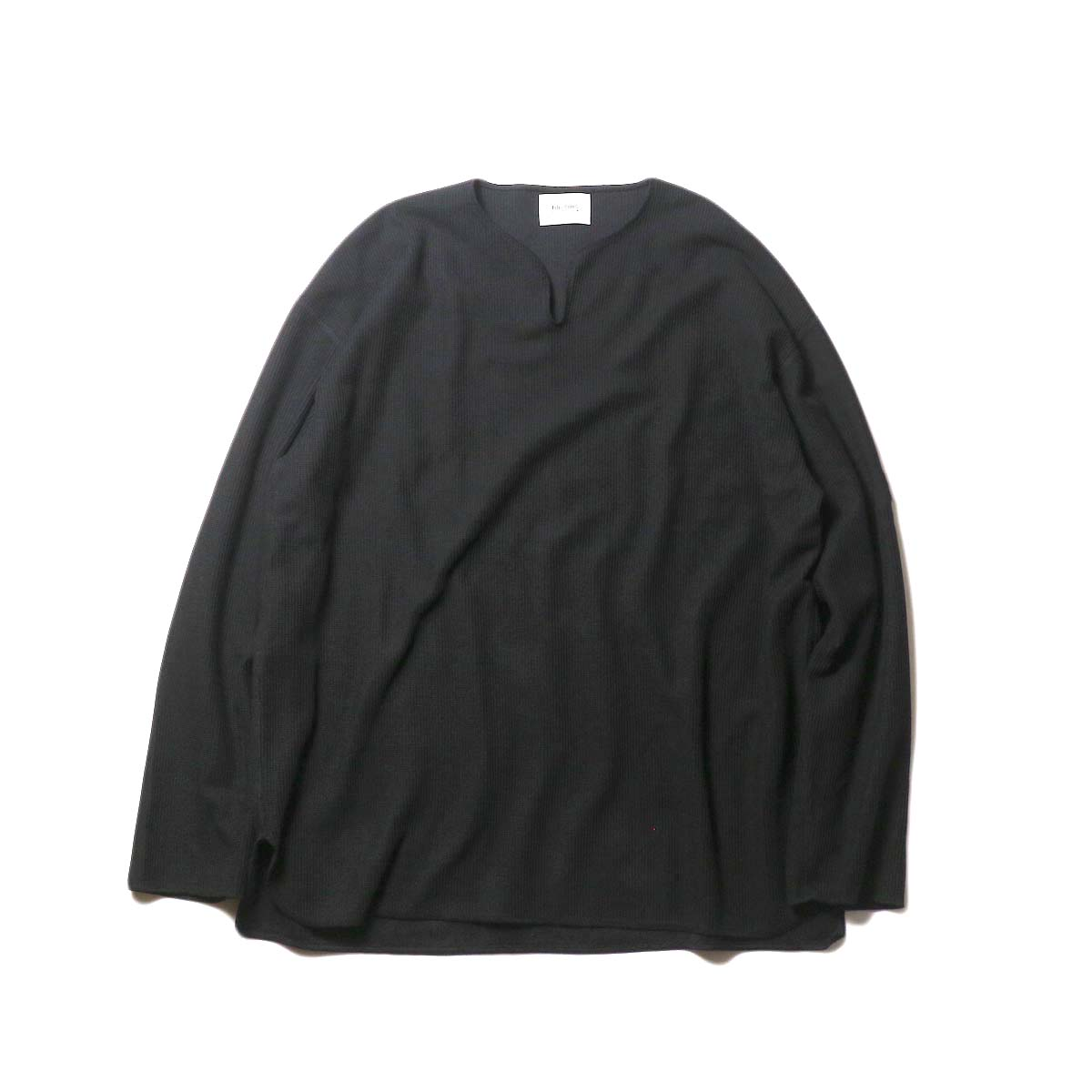 blurhms / New Rough & Smooth Thermal Over-Neck Loose Fit (Black) 正面