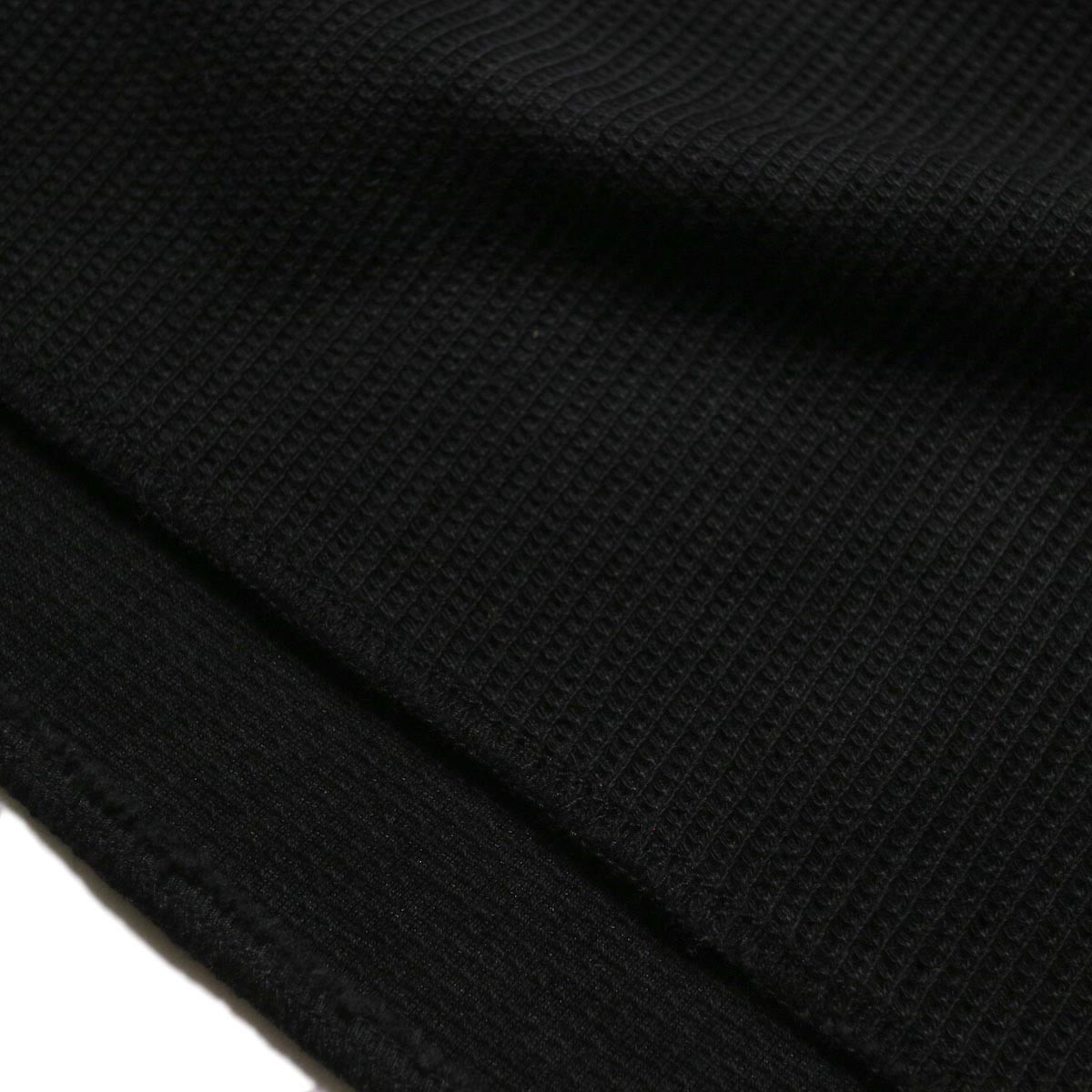 blurhms / New Rough & Smooth Thermal Over-Neck Loose Fit (Black) オーバーロック