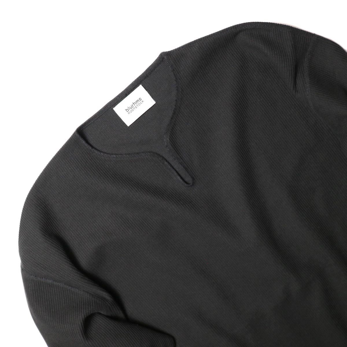 blurhms / New Rough & Smooth Thermal Over-Neck Loose Fit (Black) キーネック