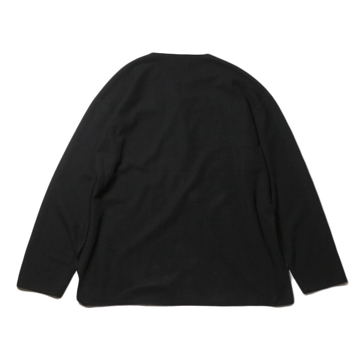 blurhms / New Rough & Smooth Thermal Over-Neck Loose Fit (Black) 背面