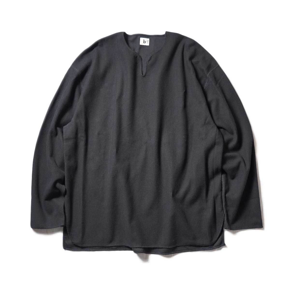 blurhms / Rough&Smooth Thermal Over-neck L/S (Black)