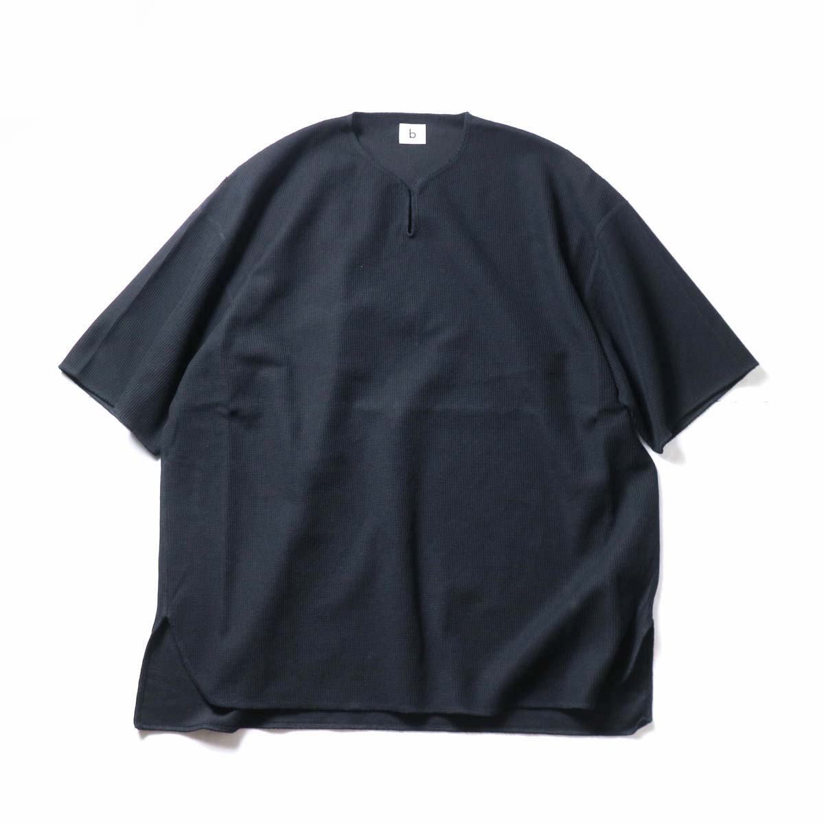 blurhms ROOTSTOCK / Rough&Smooth Thermal Over-neck (Black)