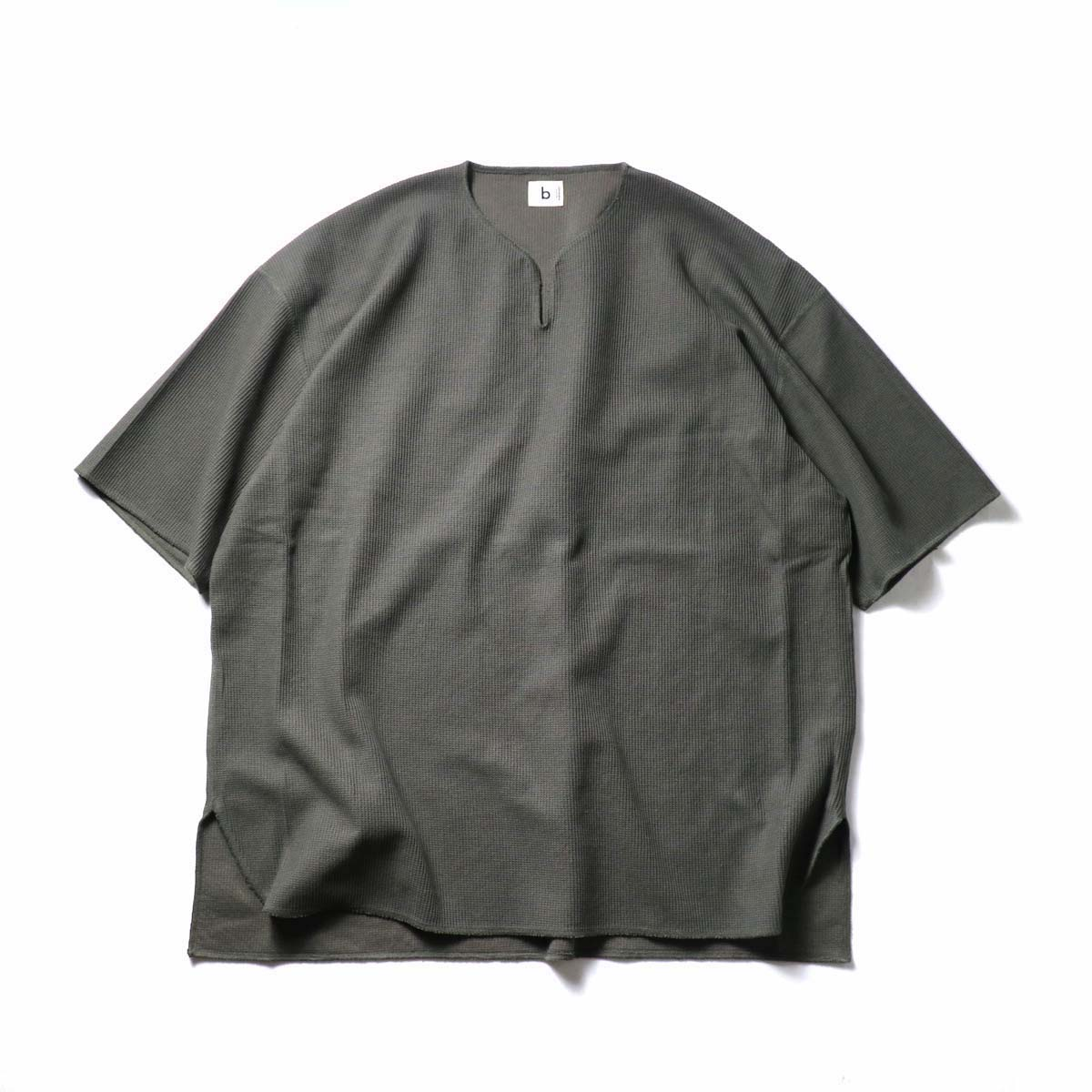 blurhms ROOTSTOCK / Rough&Smooth Thermal Over-neck (Khaki Gray)
