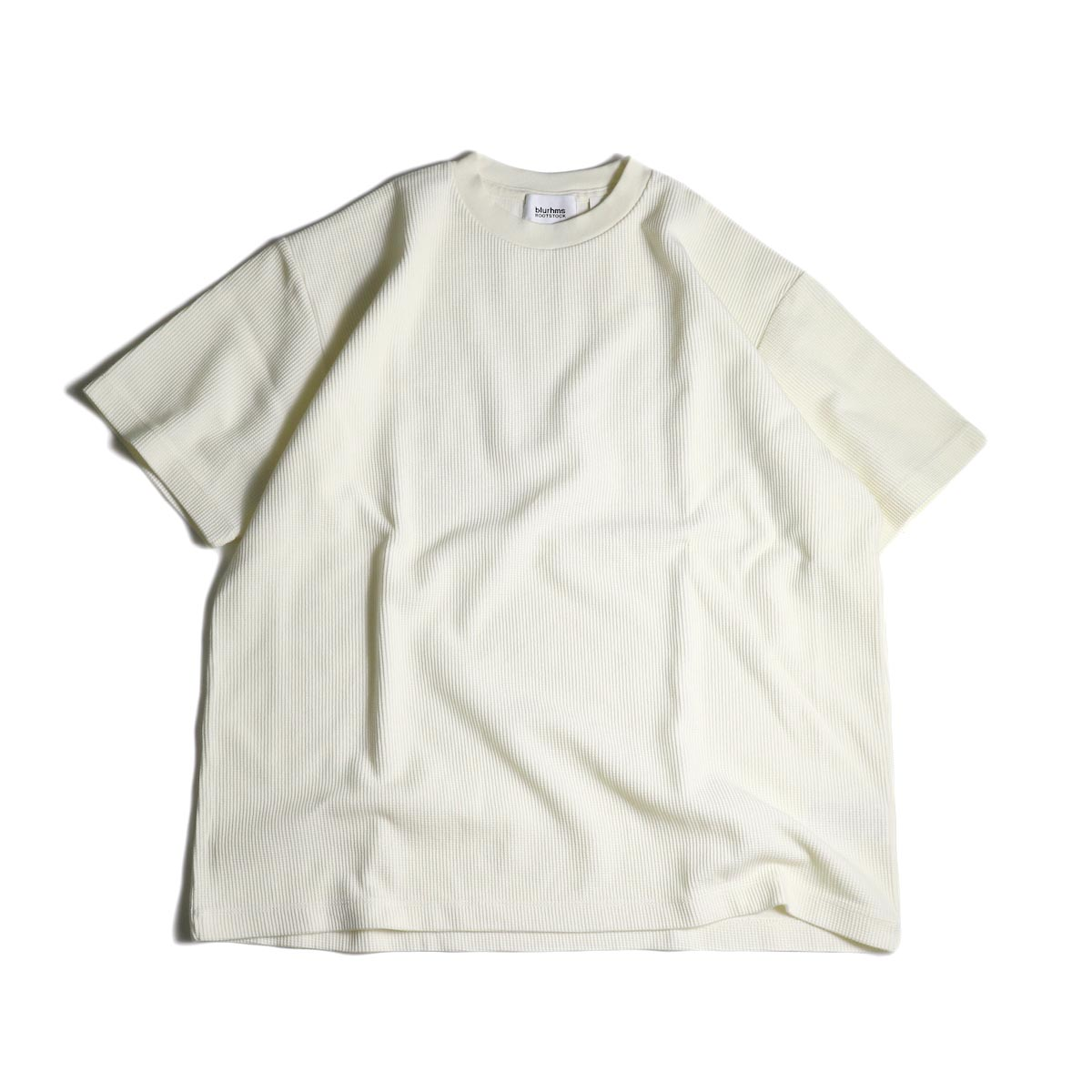 blurhms / Rough&Smooth Thermal Box Tee (Off)正面