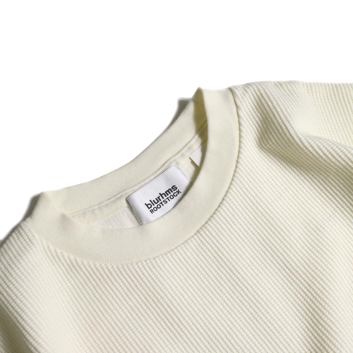 blurhms / Rough&Smooth Thermal Over-neck S/S (Off)クルーネック
