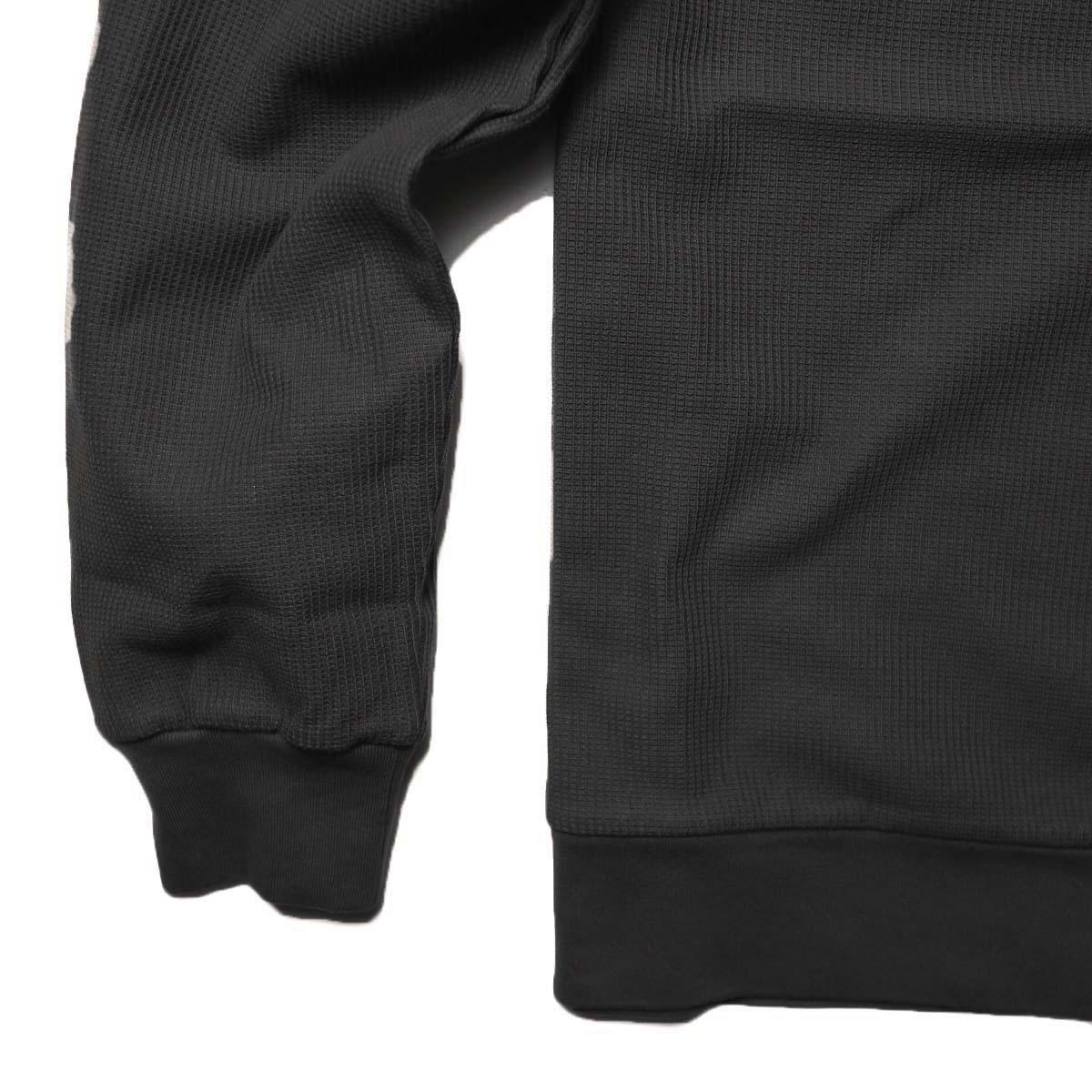 blurhms / New Rough & Smooth Thermal P/O Regular Fit (Black)袖・裾