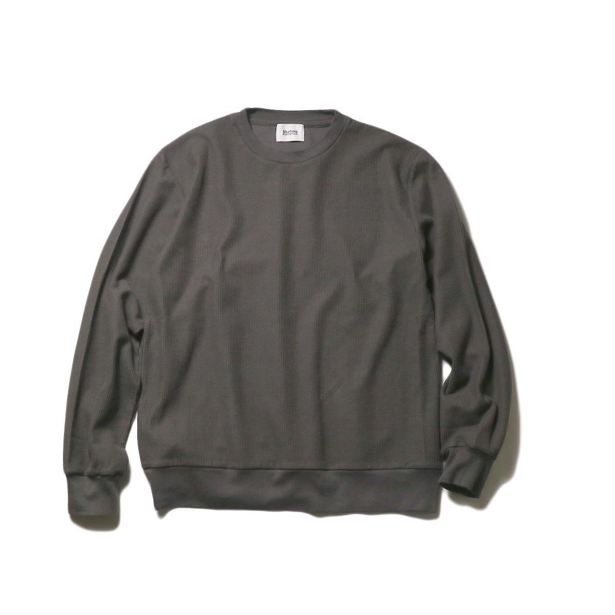 blurhms / New Rough & Smooth Thermal P/O Regular Fit (Dark Gray)