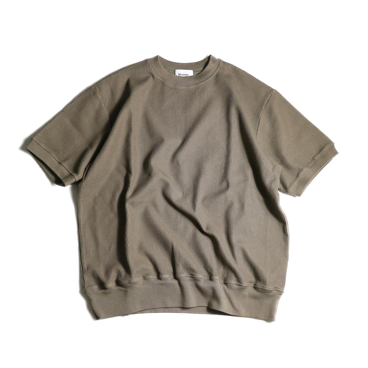 blurhms / Rough&Smooth Thermal Pullover S/S (Ash Khaki)