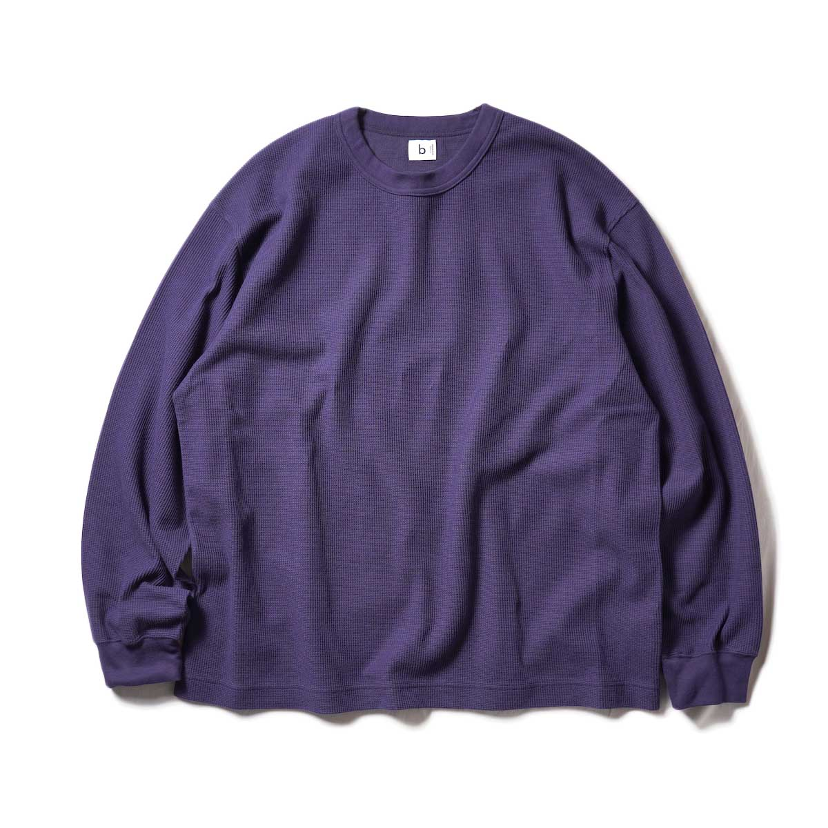 blurhms / Rough&Smooth Thermal Crew-neck L/S (Purple Navy)