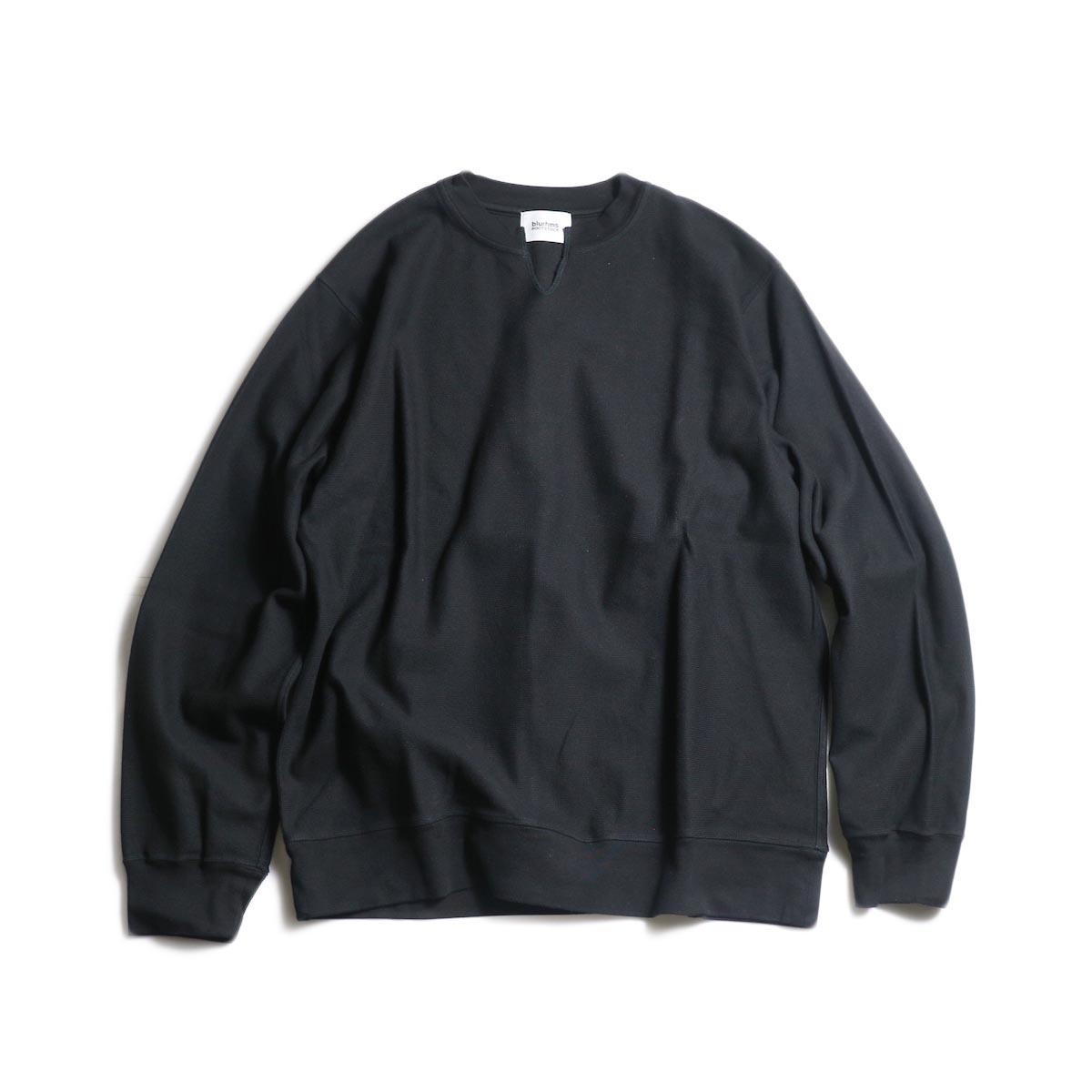 blurhms / Raschel Cut-Off V-Neck P/O (Black)