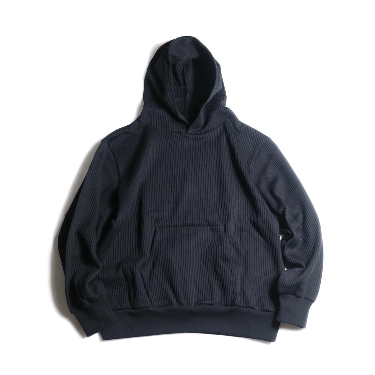 blurhms / Cotton Wide-wale Hoodie P/O (Black)