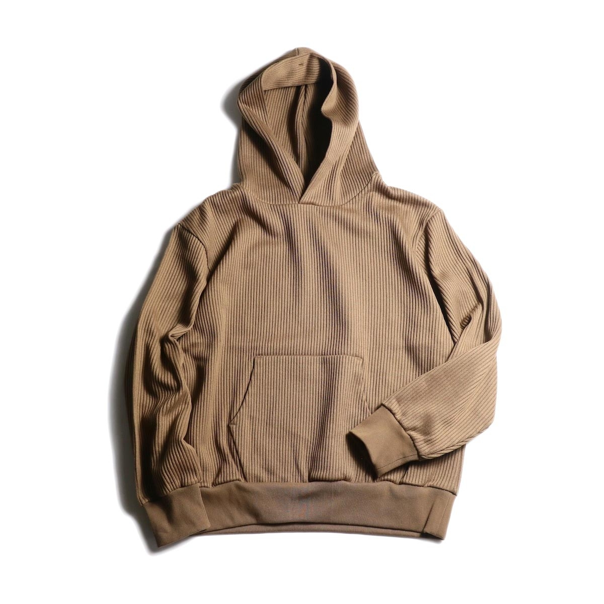 blurhms / Cotton Wide-wale Hoodie P/O (Camel)
