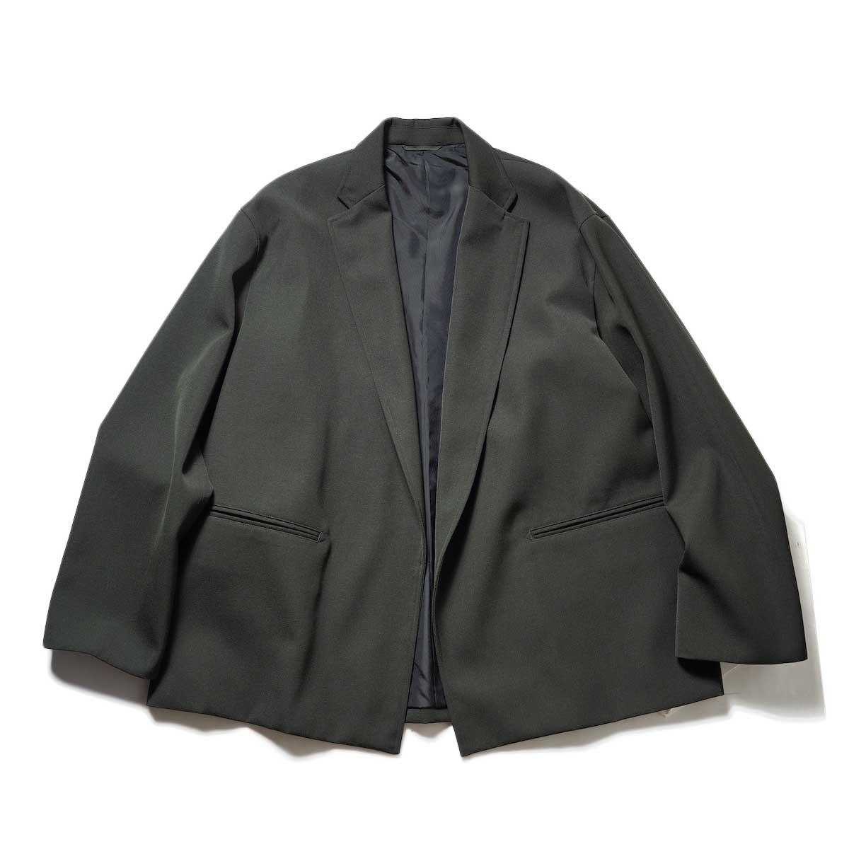 blurhms / Wool Surge Cardigan Jacket (Khaki Grey)正面