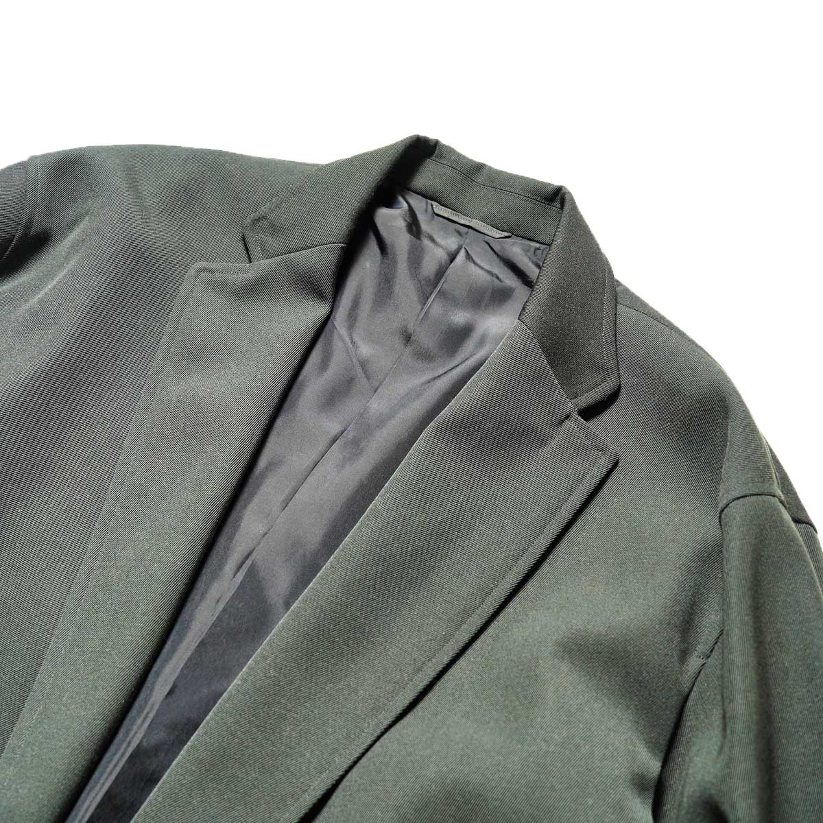blurhms / Wool Surge Cardigan Jacket (Khaki Grey)ノッチドラペル