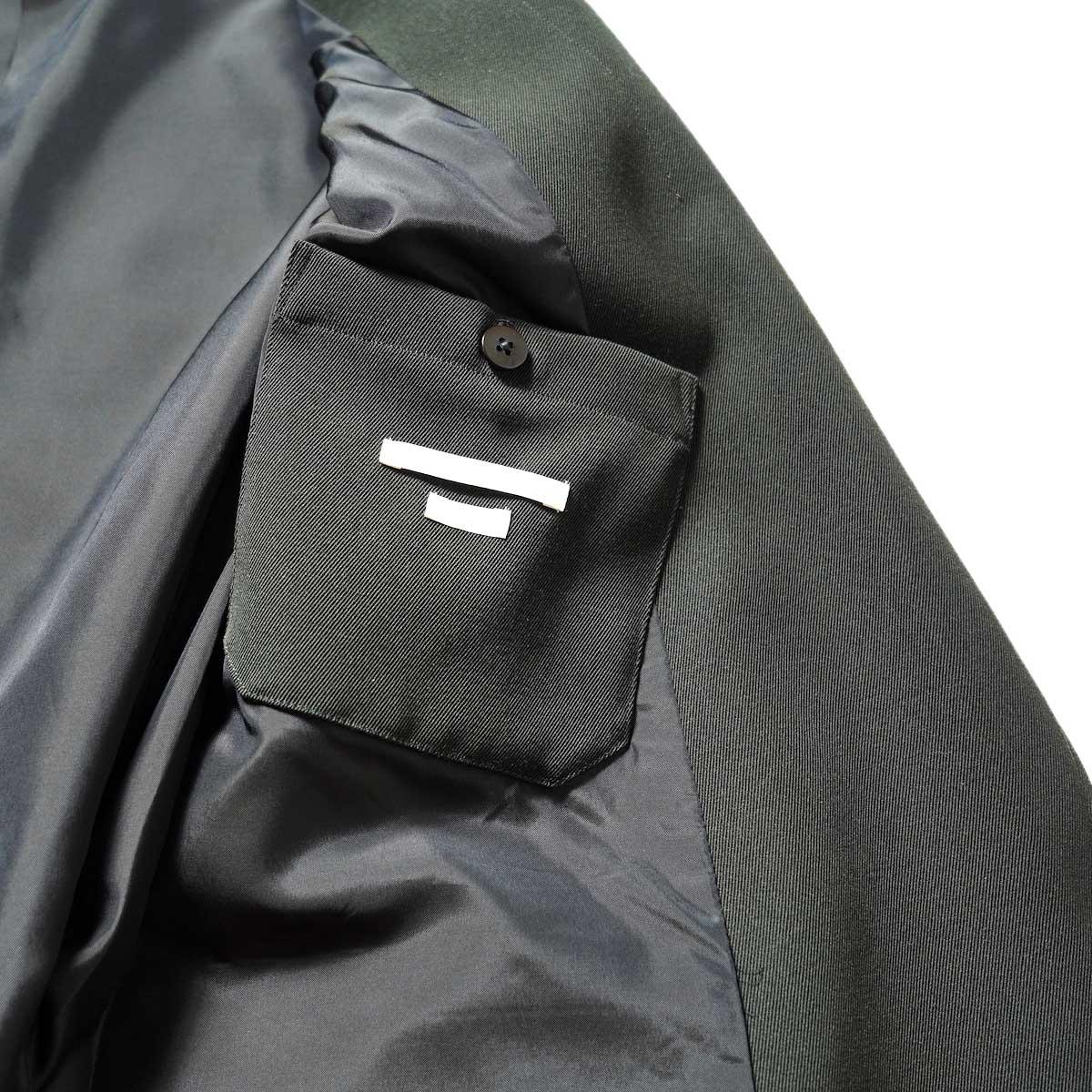 blurhms / Wool Surge Cardigan Jacket (Khaki Grey)内ポケット