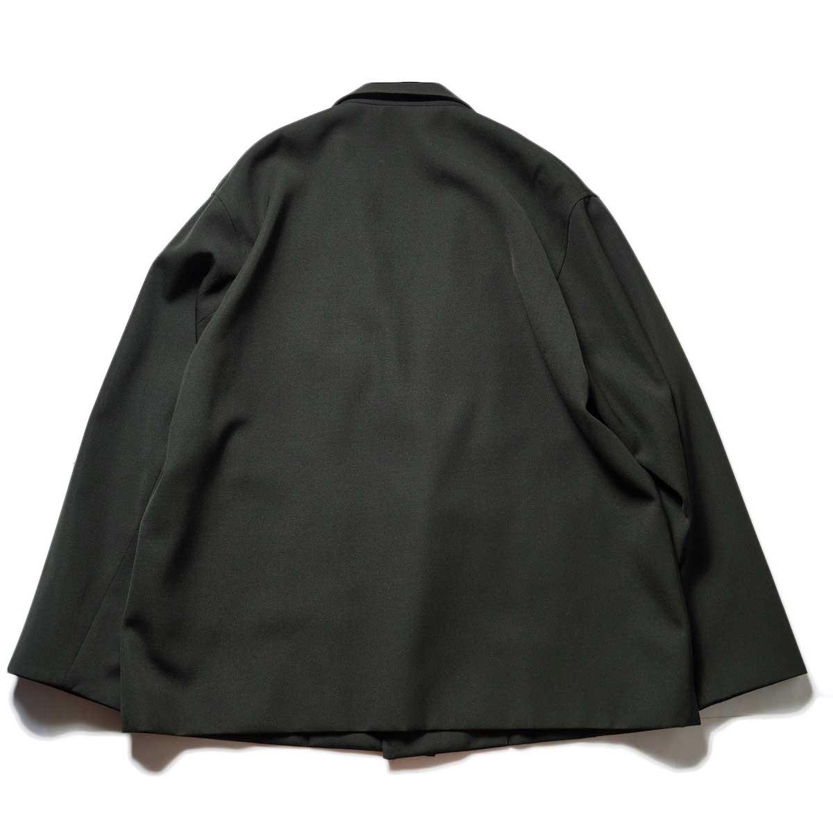 blurhms / Wool Surge Cardigan Jacket (Khaki Grey)背面