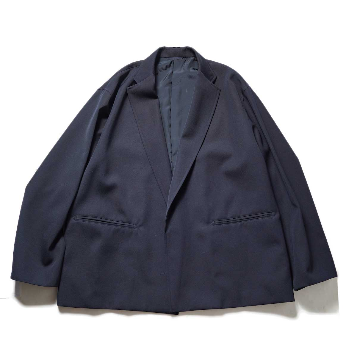 blurhms / Wool Surge Cardigan Jacket (Dark Navy)