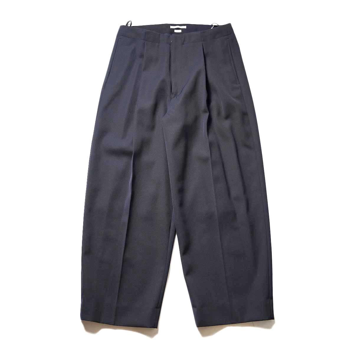 Blurhms / Wool Surge Super Wide Easy Slacks (Dark Navy)正面