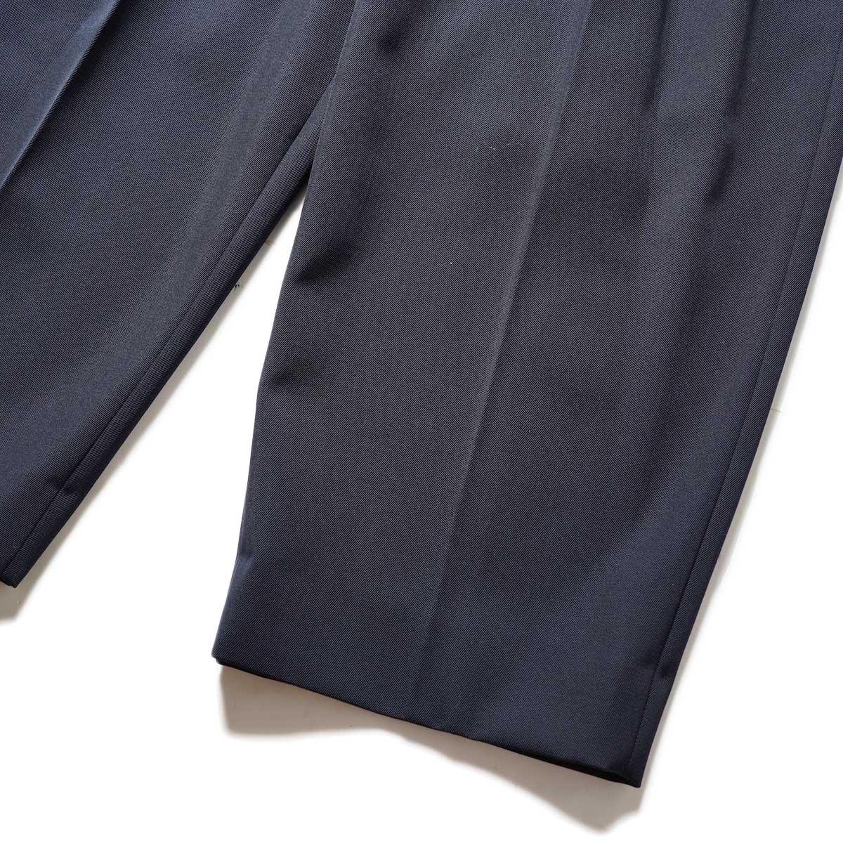 Blurhms / Wool Surge Super Wide Easy Slacks (Dark Navy)裾