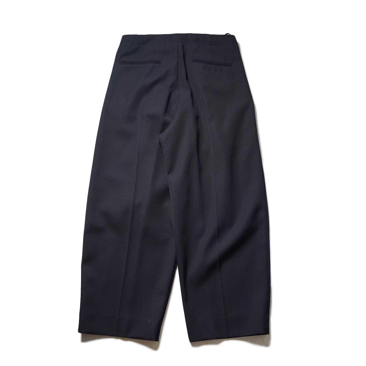 Blurhms / Wool Surge Super Wide Easy Slacks (Dark Navy)背面