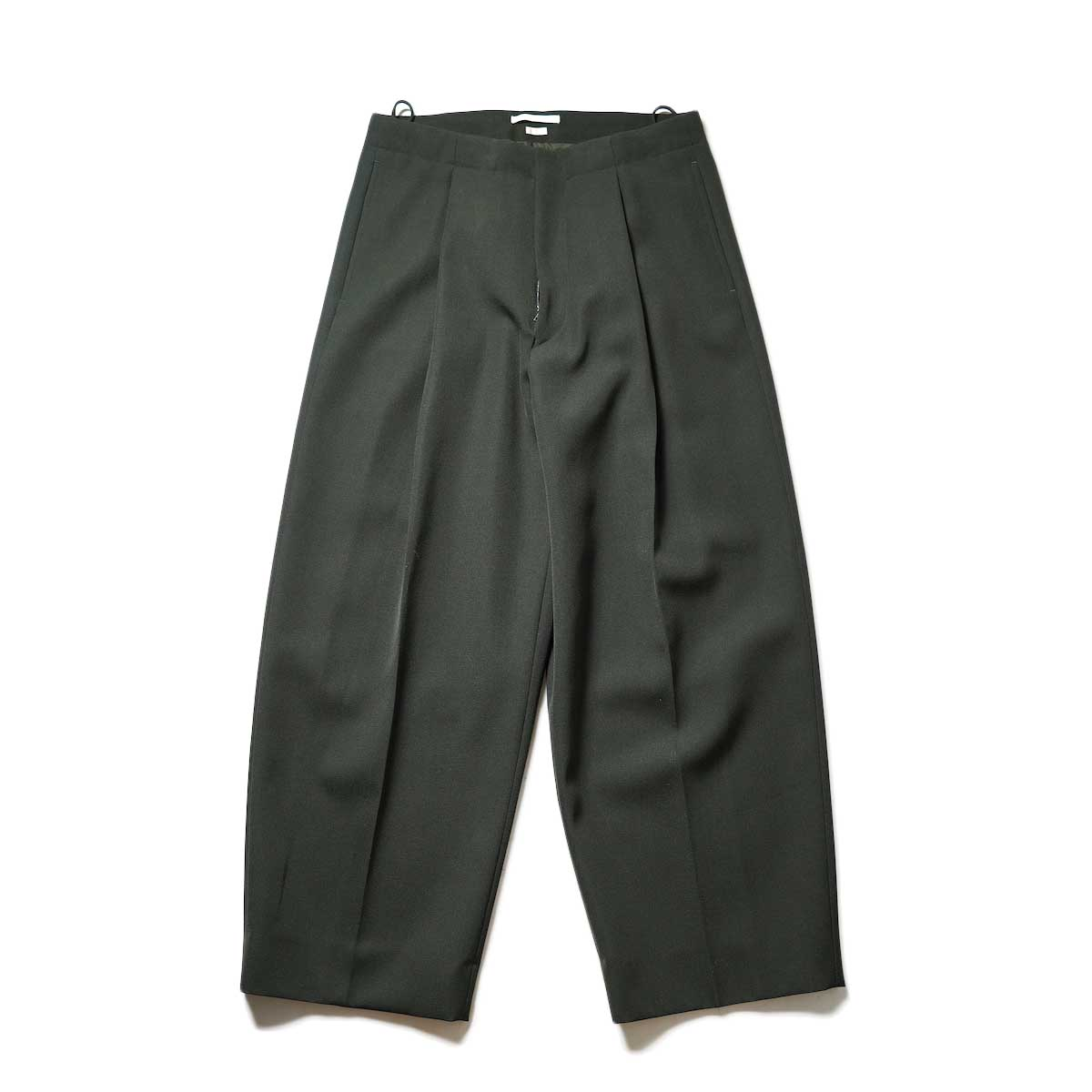 Blurhms / Wool Surge Super Wide Easy Slacks (Khaki Grey)正面