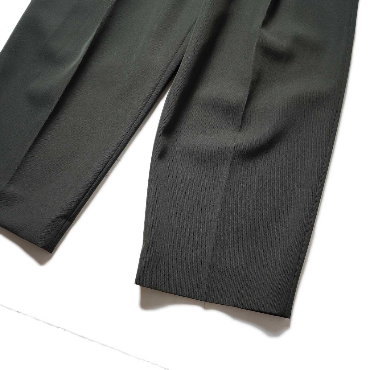 Blurhms / Wool Surge Super Wide Easy Slacks (Khaki Grey)裾