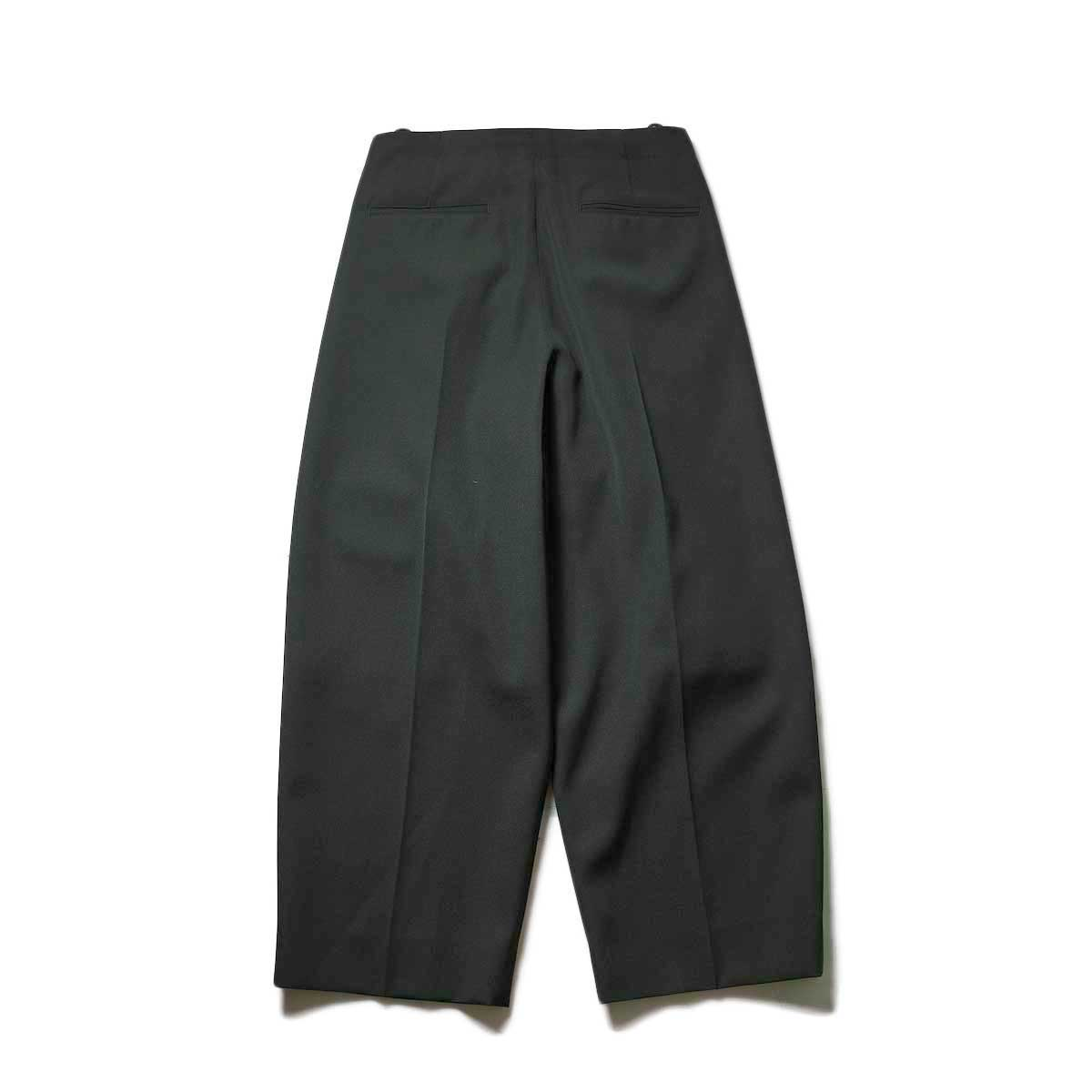 Blurhms / Wool Surge Super Wide Easy Slacks (Khaki Grey)背面