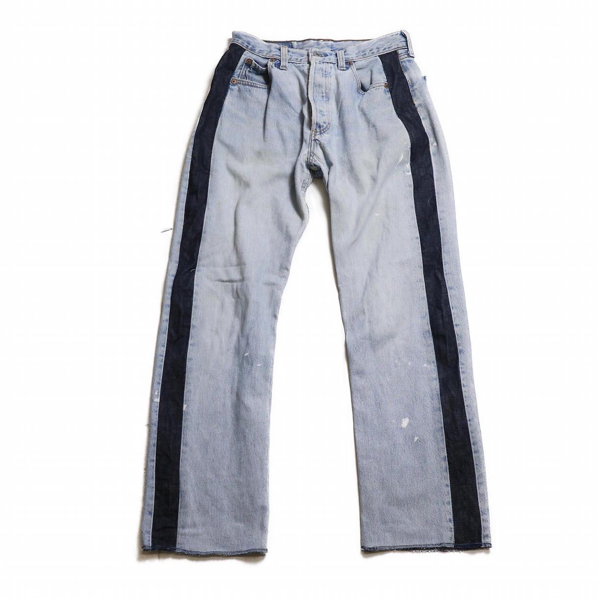 BONUM / SIDE LINE 5P DENIM PANTS(30incA)