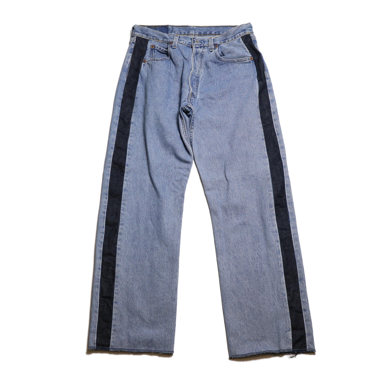 BONUM / SIDE LINE 5P DENIM PANTS(30incB)