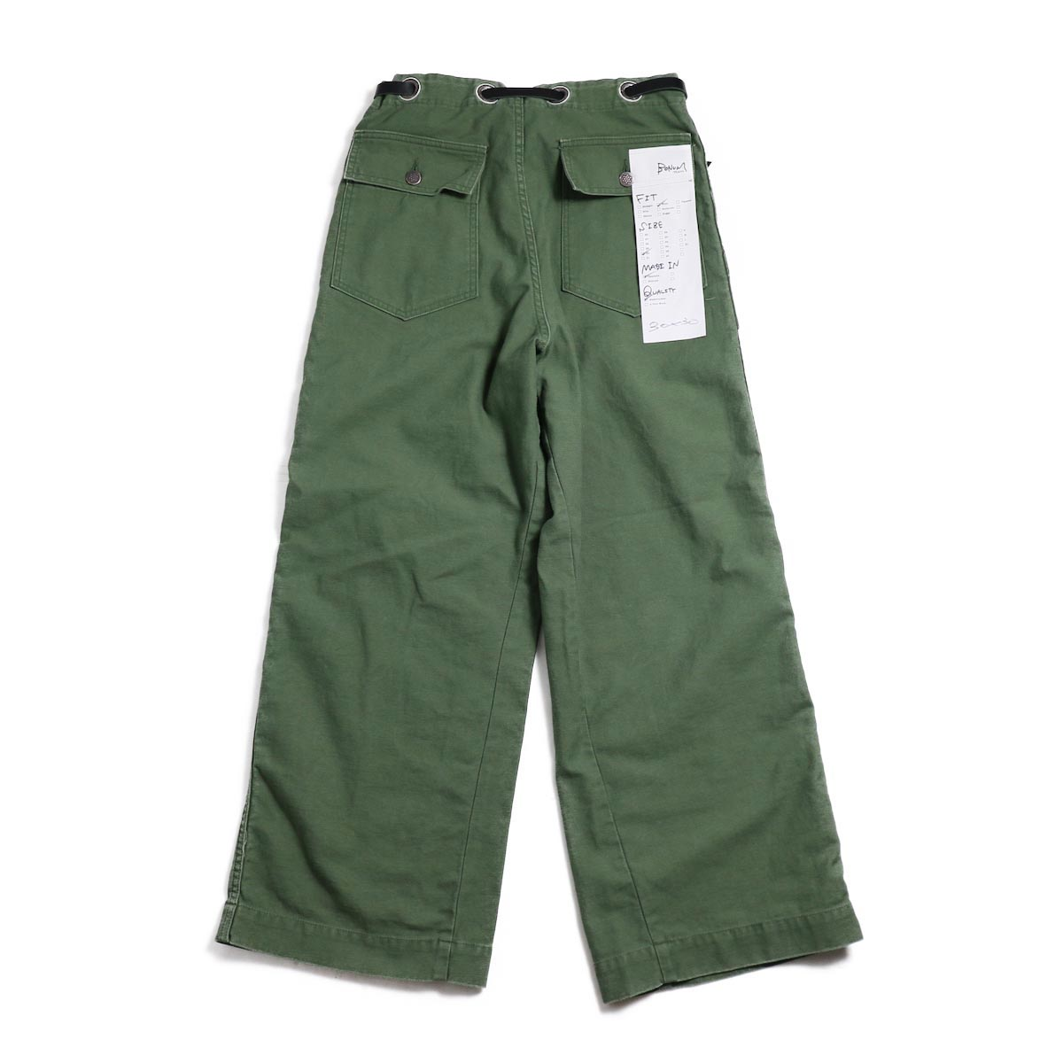 BONUM / OR DEADSTOCK BELTED ARMY PTS 背面