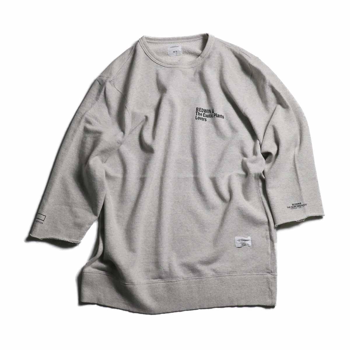 BEDWIN & THE HEARTBREAKERS × BOTANIZE / 3/4 Sleeve Sweat Tee