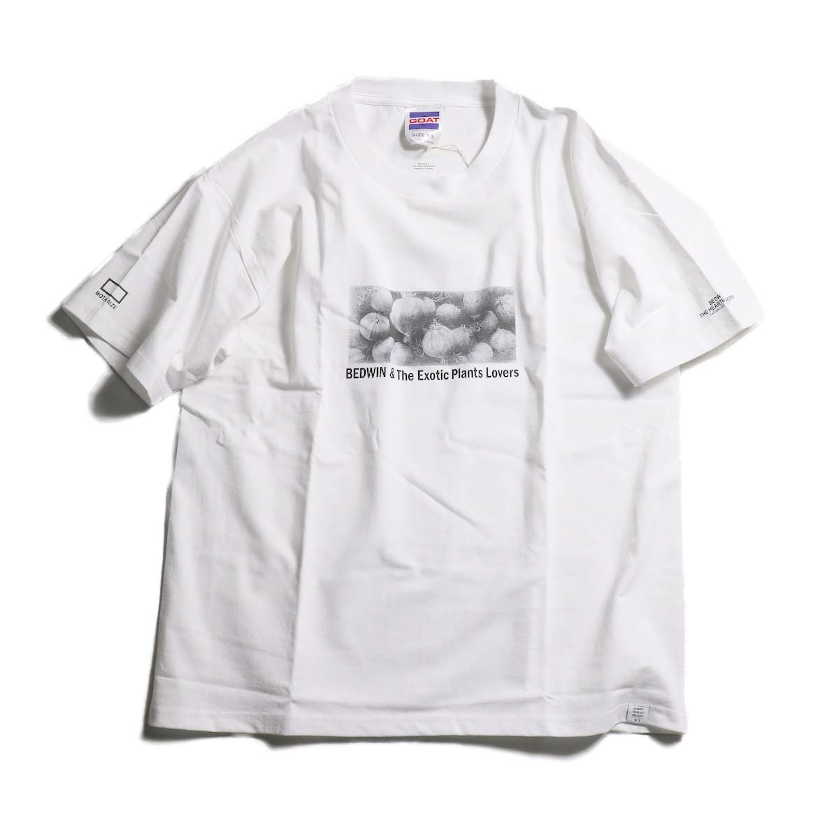 BEDWIN & THE HEARTBREAKERS × BOTANIZE Front Print T-Shirts (obesa)