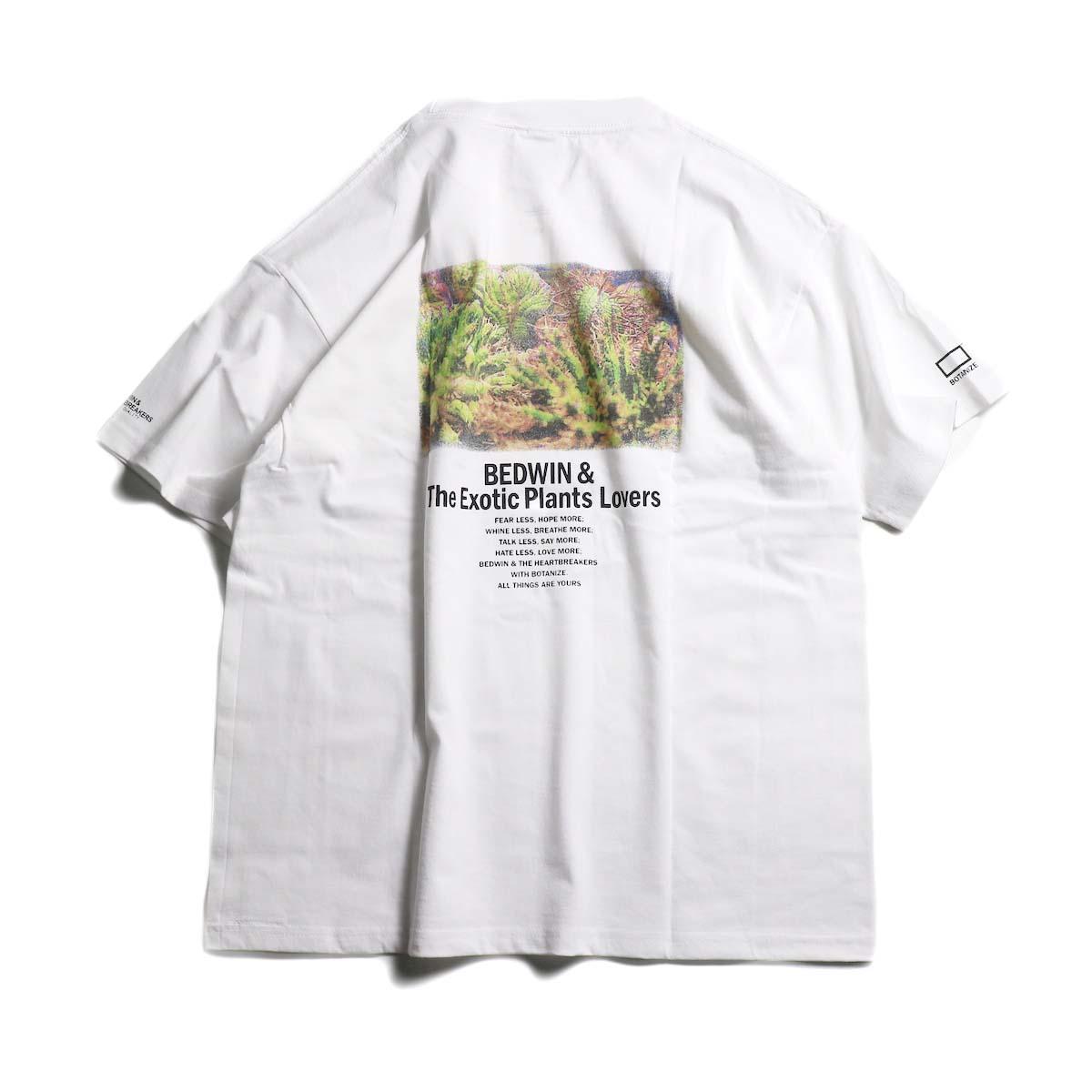 BEDWIN & THE HEARTBREAKERS × BOTANIZE Back Print T-Shirts (cactus)