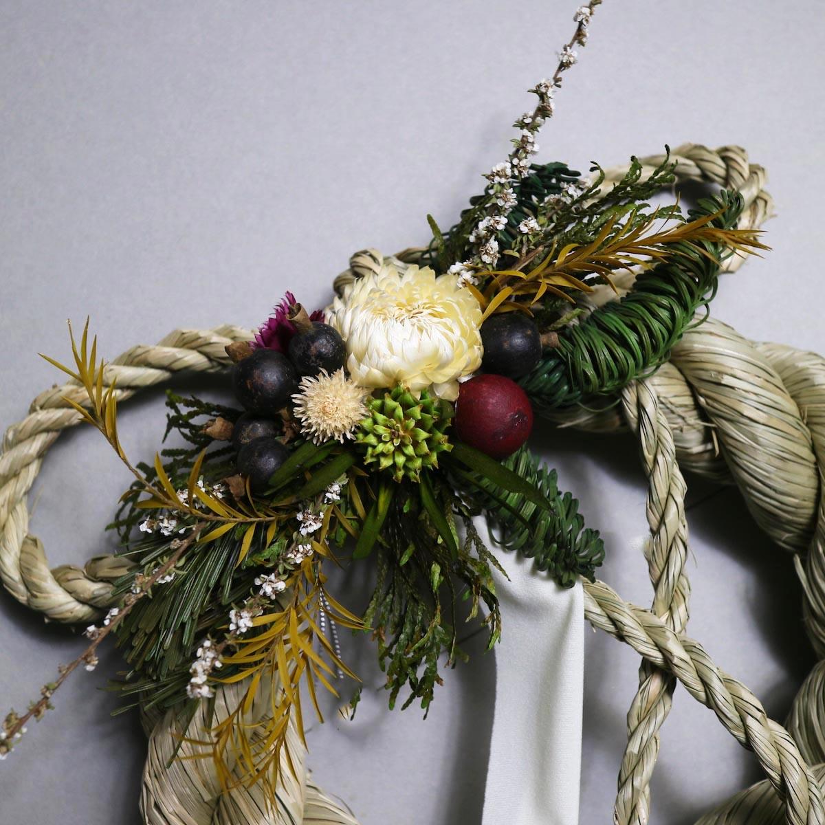 BOTANIZE&D / SHIMENAWA wreathe -M-  (typeB ドライフラワー