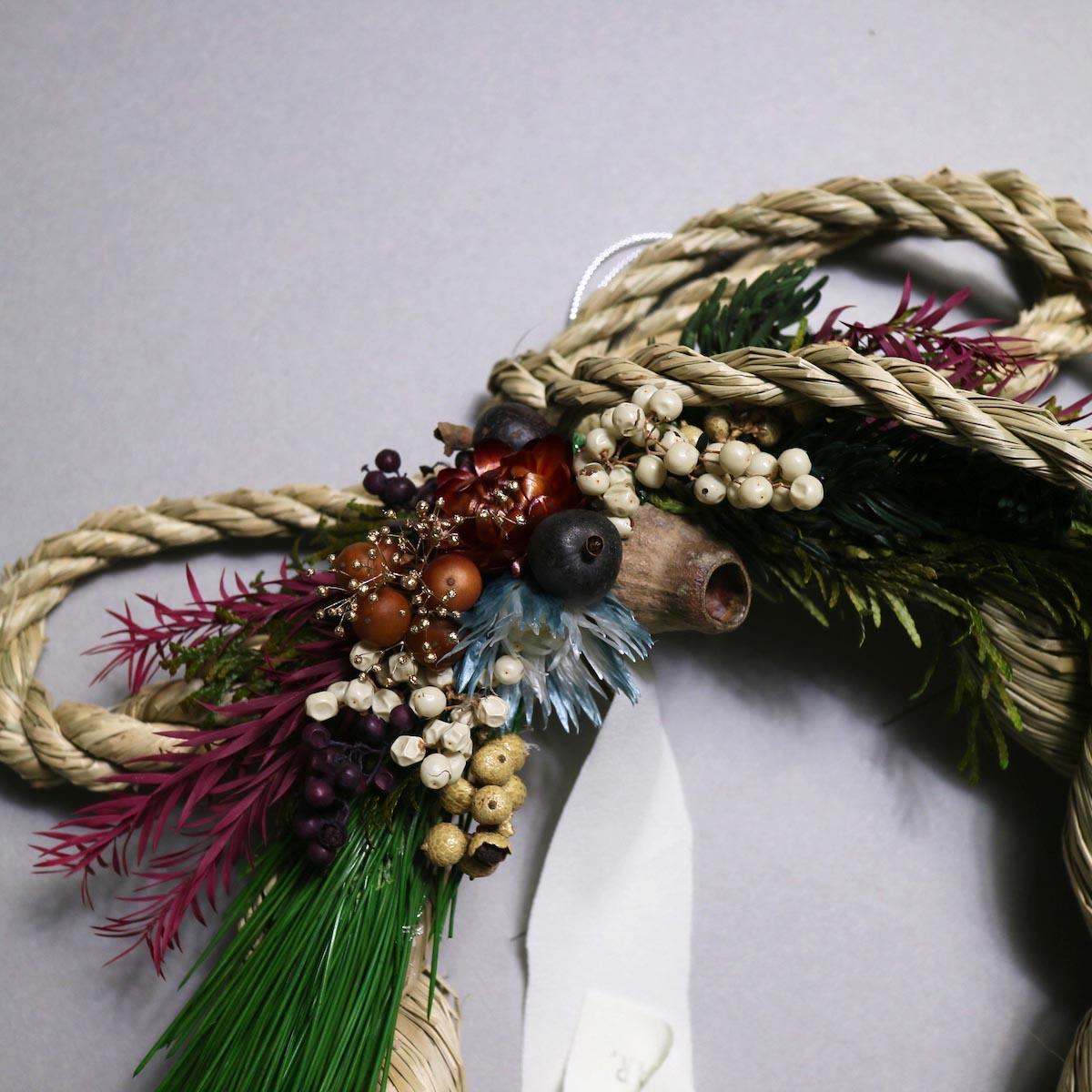 BOTANIZE&D / SHIMENAWA wreathe -M-  (typeC) ドライフラワー